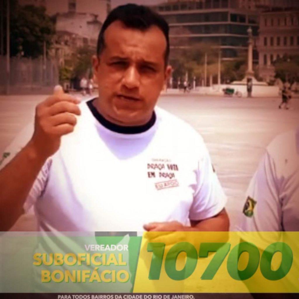 SUBOFICIAL BONIFÁCIO TEM sido reconhecido como o CANDIDATO DOS MILITARES na cidade do RIO DE JANEIRO
