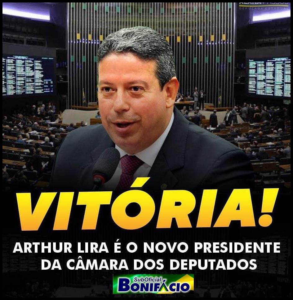 Com o Apoio do Presidente Jair Bolsonaro o Deputado Federal Arthur Lira é o Novo Presidente da Câmara.